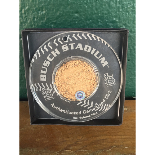 Photo of Busch Stadium Dirt Ornament - Baseball