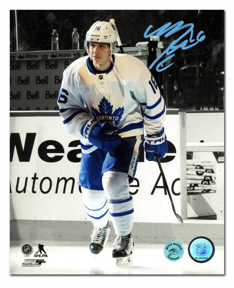 Mitch Marner Toronto Maple Leafs Autographed NHL Debut First Step 8x10 Photo