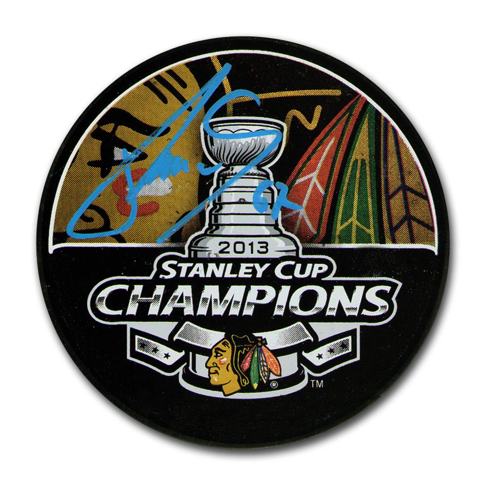Michael Frolik Autographed Chicago Blackhawks 2013 Stanley Cup Champions Puck