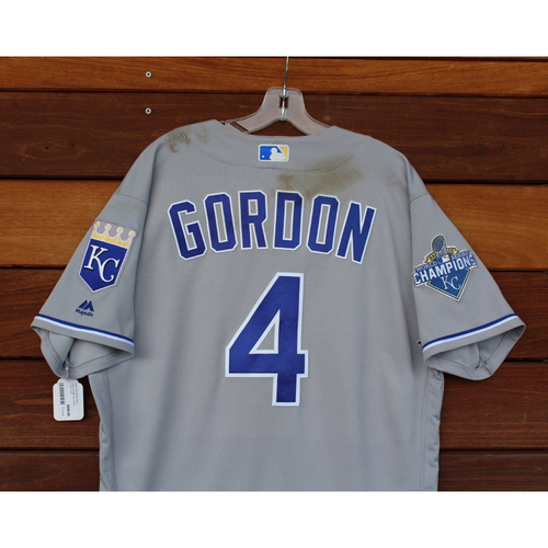 Photo of Alex Gordon Game-Used Jersey (9/22/2016 - KC at CLE) (Size 46)