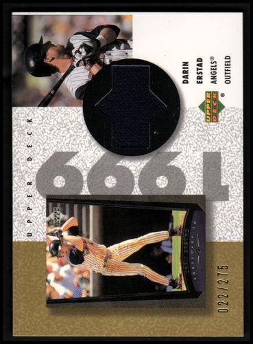 Photo of 2002 UD Authentics Reverse Negative Jerseys Gold #RDE Darin Erstad