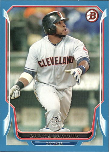 Photo of 2014 Bowman Blue #197 Carlos Santana 242/500 -- Indians post-season
