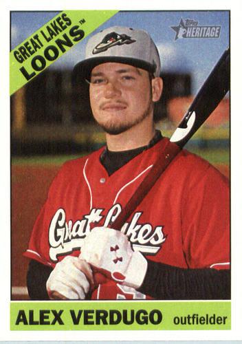Photo of 2015 Topps Heritage Minors #140 Alex Verdugo -- Dodgers post-season