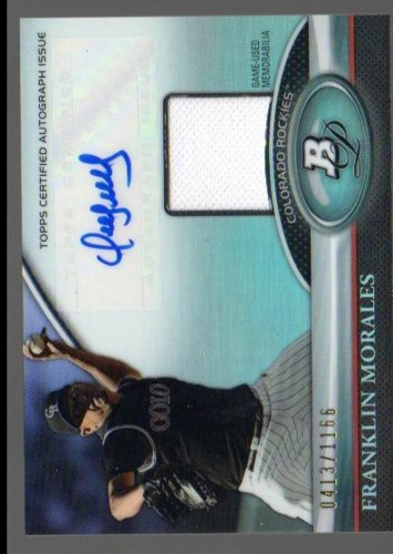 Photo of 2011 Bowman Platinum Relic Autograph Refractors #FM Franklin Morales/1166