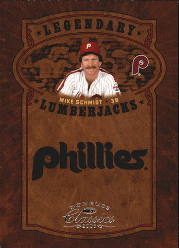 Photo of 2005 Donruss Classics Legendary Lumberjacks #26 Mike Schmidt
