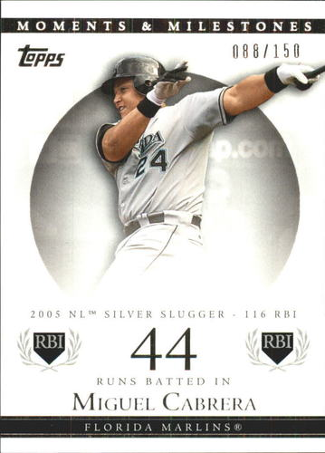 Photo of 2007 Topps Moments and Milestones #110-44 Miguel Cabrera/RBI 44