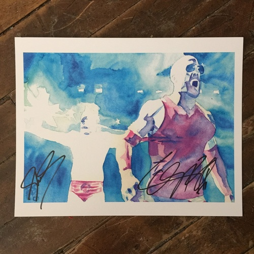Sheamus & Cesaro SIGNED 11 x 14 Rob Schamberger Print