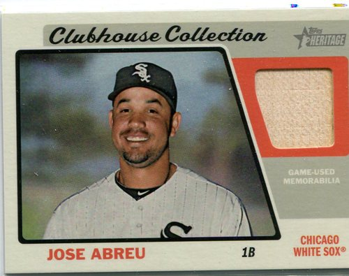 Photo of 2015 Topps Heritage Clubhouse Collection Relics #CCRJA Jose Abreu