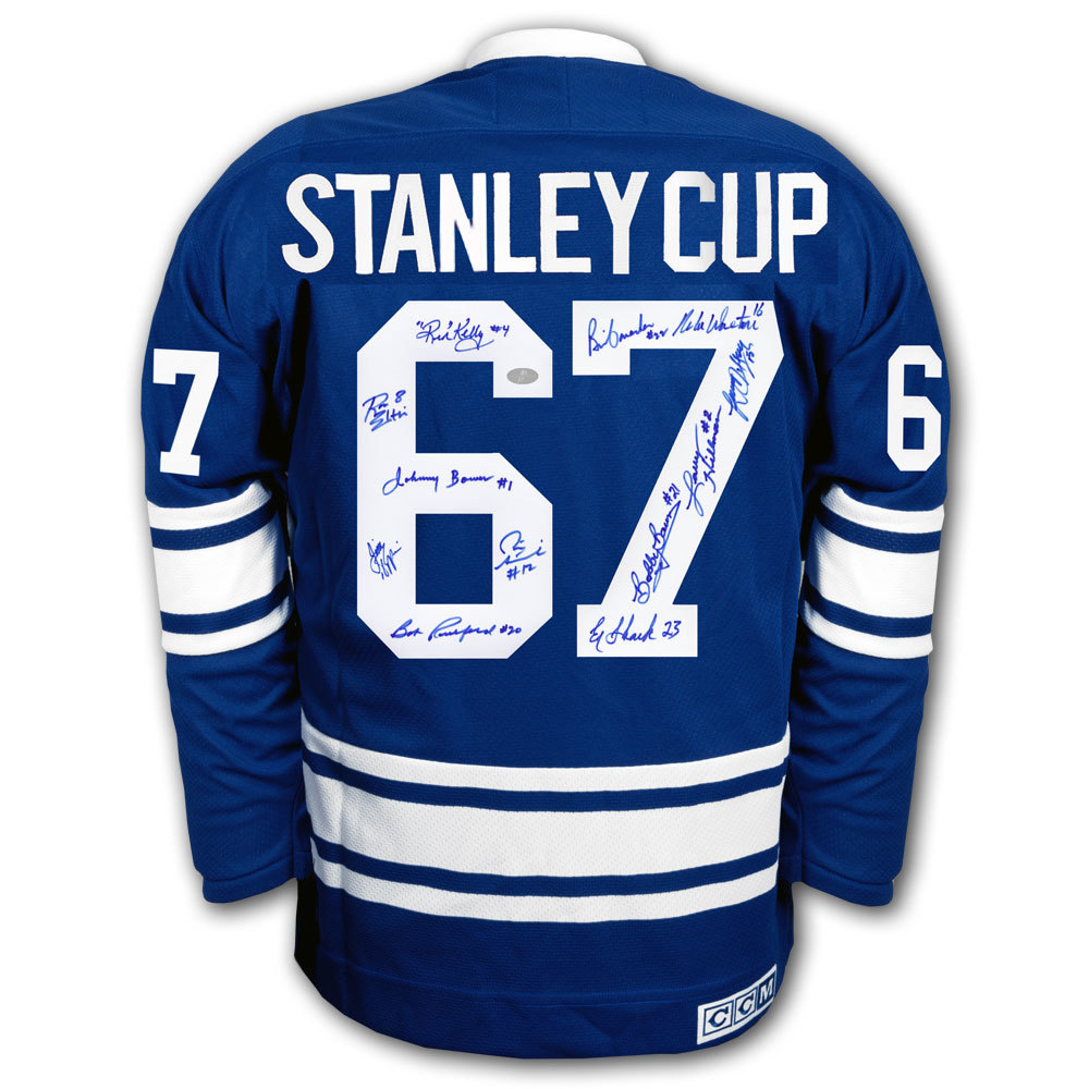 Toronto Maple Leafs 1967 Stanley Cup Autographed Jersey Signed by 12
