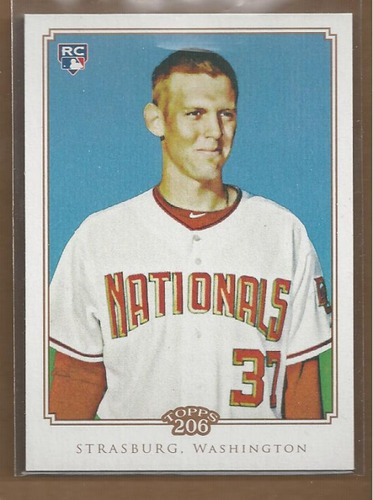 Photo of 2010 Topps 206 #55 Stephen Strasburg Rookie Card -- Nationals post-season