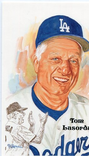 Photo of 1980-02 Perez-Steele Hall of Fame Postcards #230 Tom Lasorda -- Set #08689