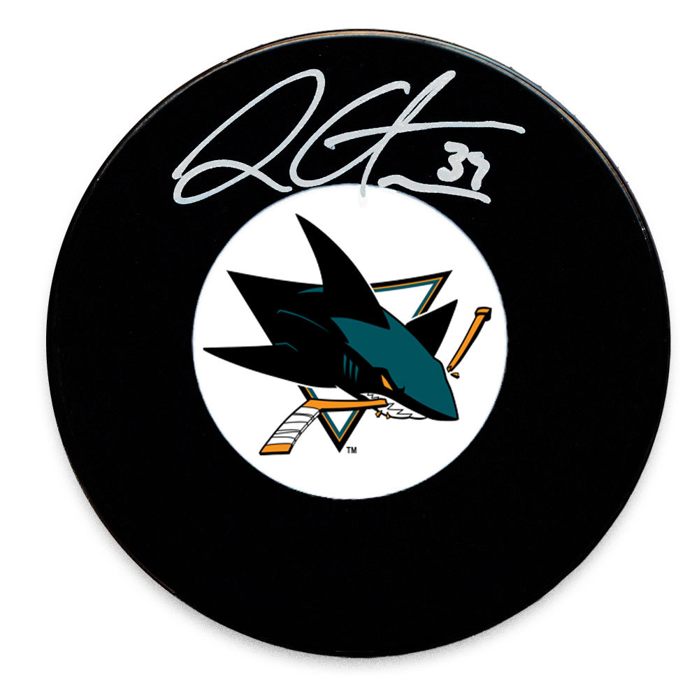 Logan Couture San Jose Sharks Autographed Puck
