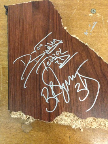Photo of The Dudley Boyz SIGNED Table Piece (TLC - 12/13/15)