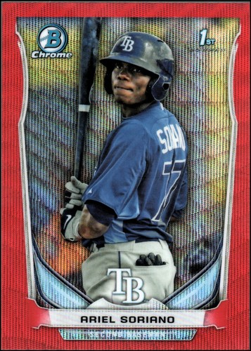 Photo of 2014 Bowman Chrome Prospects Series 2 Red Wave Refractors #BCP97 Ariel Soriano