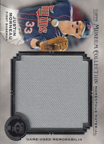Photo of 2013 Topps Museum Collection Momentous Material Jumbo Relics #JM Justin Morneau