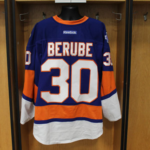 Jean-Francois Berube - Game Worn Home Jersey - 2015-16 Season - New York Islanders
