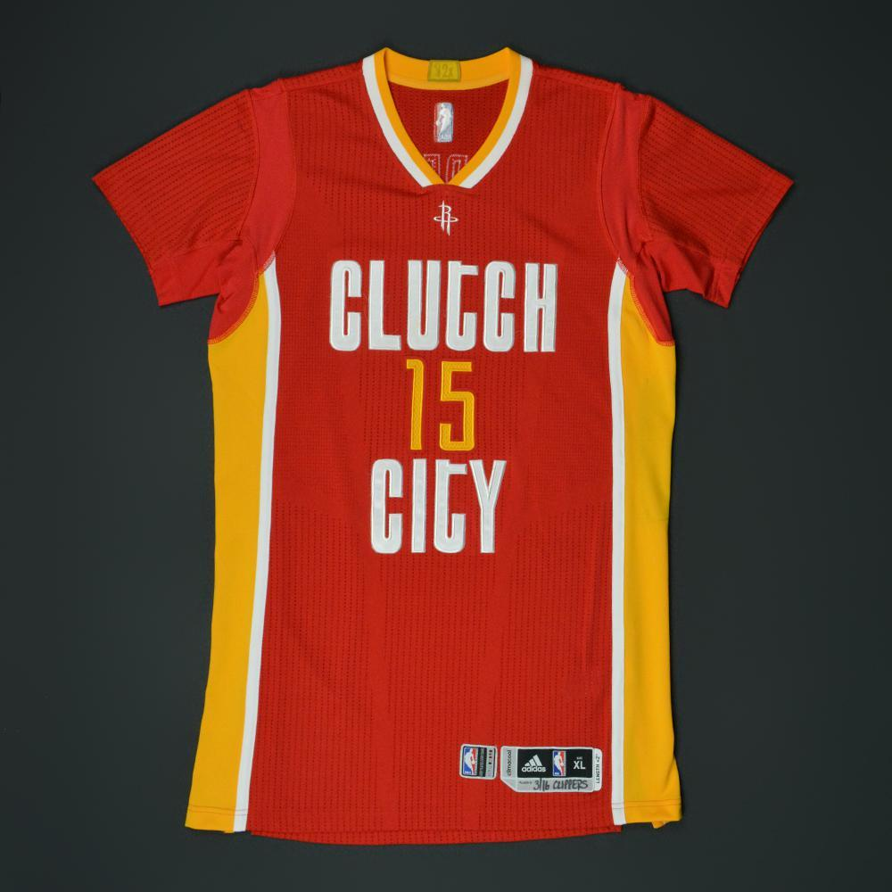 Clint Capela - Houston Rockets - Game-Worn 'Clutch City ...