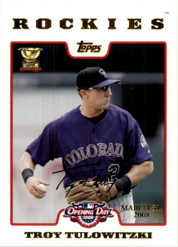 Photo of 2008 Topps Opening Day Gold #194 Troy Tulowitzki