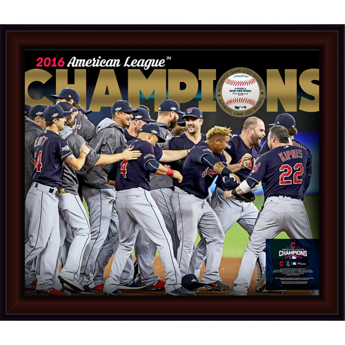 Photo of Cleveland Indians 2016 American League Champions Gamebreaker Picture (INCLUDES GAME-USED BASEBALL FROM GAME 5 OF THE ALCS)