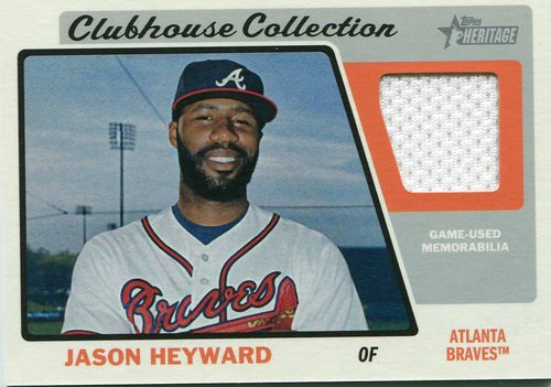 Photo of 2015 Topps Heritage Clubhouse Collection Relics #CCRJH Jason Heyward