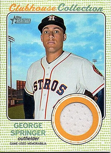 Photo of 2017 Topps Heritage Clubhouse Collection Relics #CCRGS George Springer Jersey