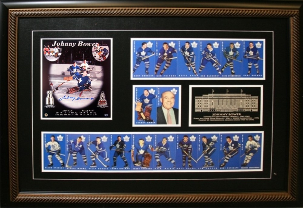 Johnny Bower - Signed & Framed 8x10