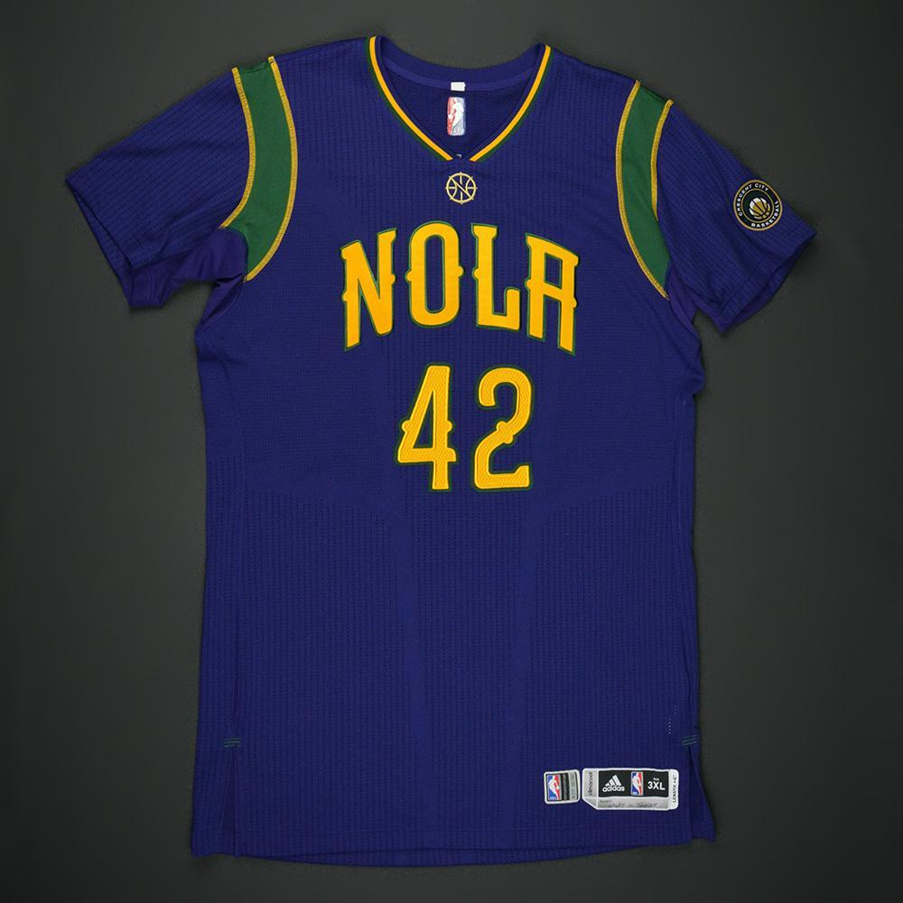 Alexis Ajinca - New Orleans Pelicans - Purple 'Mardi Gras' Game-Worn Jersey - 2016-17 Season
