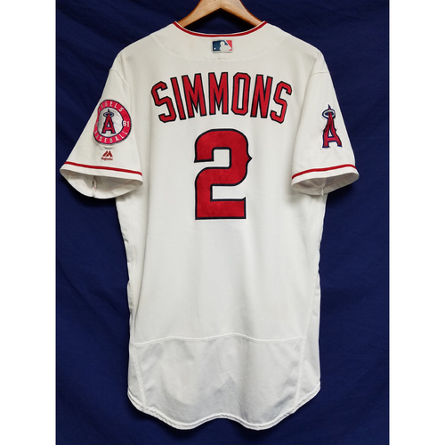 Photo of Andrelton Simmons 2016 Game-Used Home Jersey