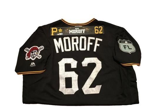 Photo of Max Moroff Game-Used Spring Training Jersey and Locker Name Plate