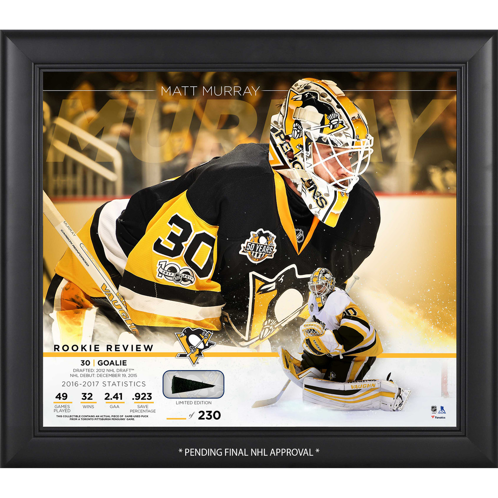 "Matt Murray Pittsburgh Penguins Framed 15"" X 17"" Rookie"