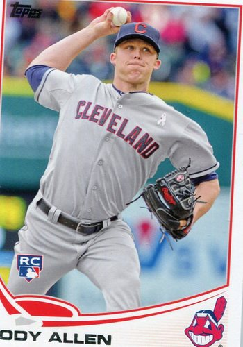 Photo of 2013 Topps Update #US9 Cody Allen Rookie Card -- Indians post-season