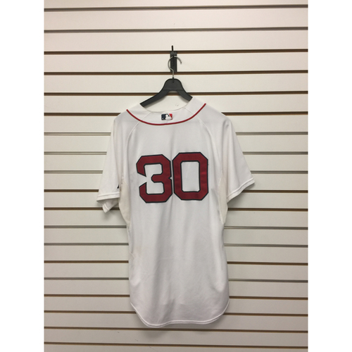 Photo of Josh Rutledge Game-Used September 26, 2015 Home Jersey