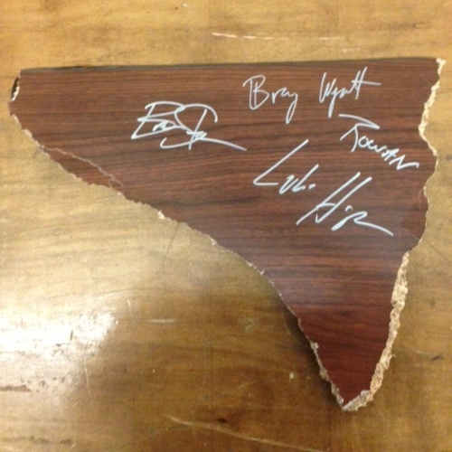 Photo of The Wyatt Family SIGNED Table Piece (TLC - 12/13/15)