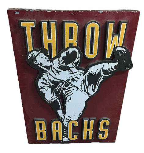 Photo of Wrigley Field Collection - 'Throw Backs' Concourse Sign - Small - JB097776