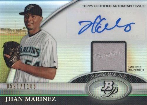 Photo of 2011 Bowman Platinum Relic Autograph Refractors #JM Jhan Marinez/1166