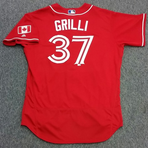 Photo of Authenticated Game Used Jason Grilli Canada Baseball Day Jersey