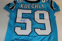 PANTHERS - LUKE KUECHLY SIGNED AUTHENTIC PANTHERS JERSEY - SIZE 48