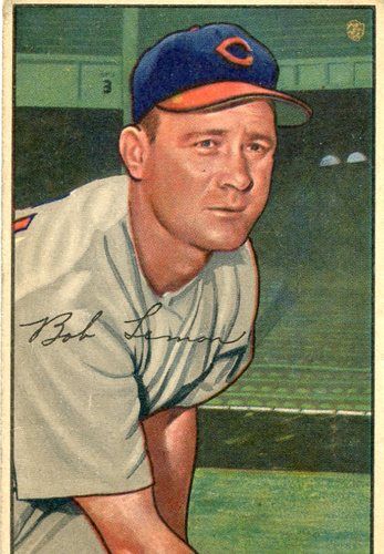 Photo of 1952 Bowman #23 Bob Lemon -- Indians Hall of Famer