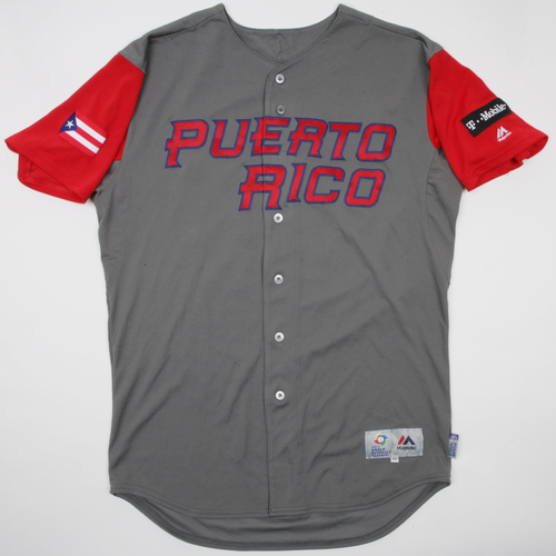 2017 World Baseball Classic: Diaz #39 Puerto Rico Road Jersey