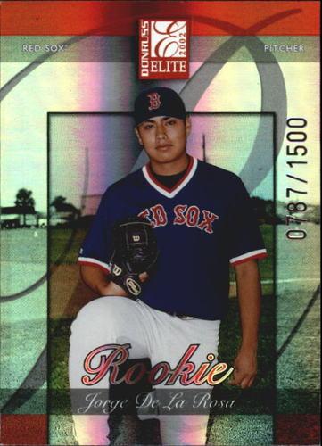 Photo of 2002 Donruss Elite #154 Jorge De La Rosa Rookie Card -- D'backs post-season