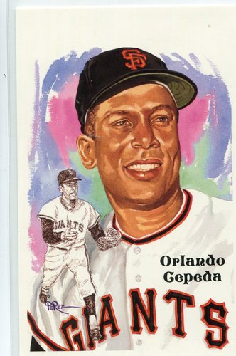 Photo of 1980-02 Perez-Steele Hall of Fame Postcards #239 Orlando Cepeda -- Set #08689
