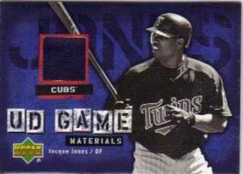 Photo of 2006 Upper Deck UD Game Materials #JJ Jacque Jones Jsy S1