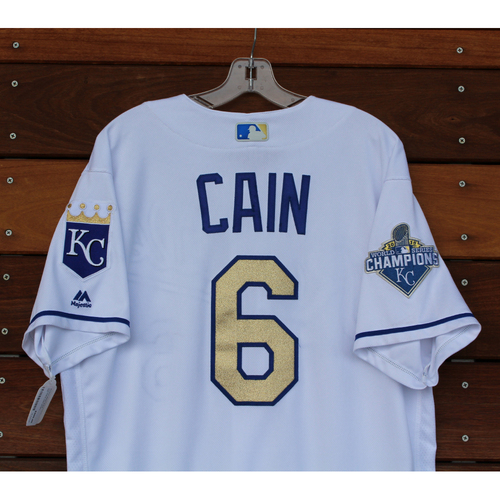 Photo of Lorenzo Cain Game-Used Jersey (9/16/2016 - CWS at KC) (Size 46)