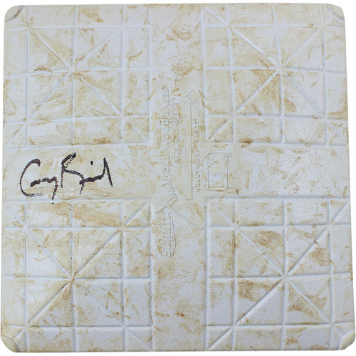 Photo of Greg Bird Signed Twins at Yankees 8-17-2015 Game-Used Second Base  (MLB Auth)(Inn 6-10)