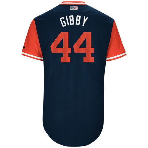 "Photo of Kyle ""Gibby"" Gibson Game-Used Players Weekend Jersey"
