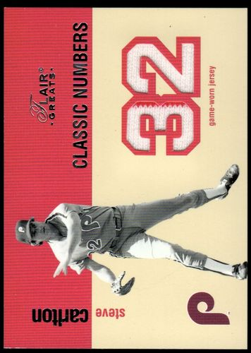 Photo of 2003 Flair Greats Classic Numbers Game Used #4 Steve Carlton Jsy