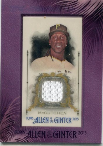 Photo of 2015 Topps Allen and Ginter Framed Mini Relics #FMRAM Andrew McCutchen