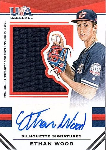 Photo of 2017 USA Baseball Stars and Stripes #178 Ethan Wood RC AUTO Jersey 45/49