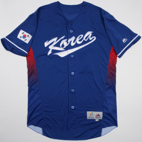 Photo of 2017 WBC Korea Game-Used Road Jersey, S. H. Oh #26