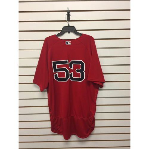 Photo of John Farrell Team-Issued Home Alternate Jersey with David Ortiz final Season Patch